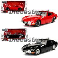 Jada 1:24 JDM 1967 Toyota 2000GT Diecast Model Car Black / Red 30447 New In Box