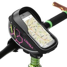 Bike Handlebar Bag Bicycle Front Cell Phone Holder Case MTB Accessories D4Y8