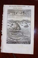 ✒ 1683 MANESSON MALLET Marine Vaisseaux de l'AMERIQUE ETATS UNIS