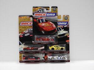 """1:64 Hot Wheels Car Culture """"Race Day"""" - 1978 Porsche 935-78,Mazda RX3,Porsche 9"""