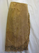 Lew Magram Collection Lined Suede Leather Light Brown Skirt Womens Size 6