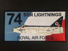 ROYAL AIR FORCE 74 SQUADRON LIGHTNINGS CLOTH PATCH