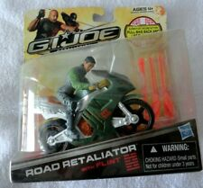 2012 Gi Joe Retaliation Road Motorcycle Bike Road Retaliator Figure w/ flint new