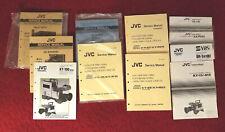 Lot of Vintage JVC Video equipment SERVICE MANUALS