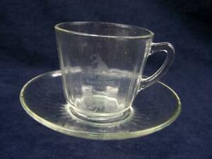 "1947 Royal Adelaide Exhibition glass cup and saucer ""Pop"""