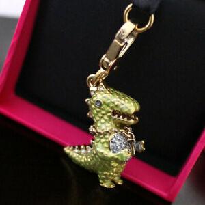 NWT NIB 2013 Retired Juicy Couture Green Dinosaur T-Rex Charm Bracelet CHARM NEW