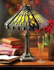 """Victorian Trading Co Enchanted Gothic Green Stained Glass Desk Lamp 12"""" x 18"""""""