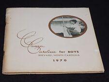Vintage 1970 Camp Carolina for Boys Summer Camp Program w Pictures Brevard NC
