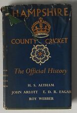 HAMPSHIRE COUNTY CRICKET - THE OFFICIAL HISTORY  (PHOENIX SPORTS BOOKS, 1957)