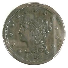 PCGS XF45*** 1845 BRAIDED HAIR LARGE CENT (266)