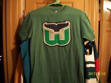 HARTFORD WHALERS MAJESTIC S/S T-SHIRT, SEWN LOGO, GREEN - ADULT (S) NHL