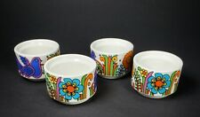 Villerory & Boch ACAPULCO Egg Cup Set Of 4 Early Production Vintage Blue Stamp