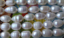 """Wholesale natural 5 strands 9X13mm White Freshwater Pearl Loose Beads 15"""""""