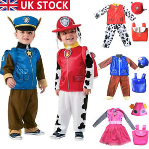 Cosplay Paw Patrol Kid/'s Dress Outfits Fancy Costume Marshall Chase Skey Clothes