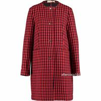 MARNI Red/Black Wool Checked coat UK10-12 IT42, rrp1195GBP New