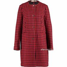 MARNI Red/Black Wool Blend coat UK14-16 IT44, rrp1195GBP New