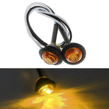 Waterproof 2pcs Mini DC 12V Amber 3 LED Marker Trailer Truck Side Bullet Light