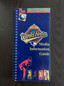 1997 MLB WORLD SERIES MEDIA GUIDE - CLEVELAND INDIANS - FLORIDA MARLINS