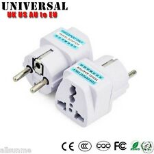 Universal UK US AU to EU AC Power Plug Travel Charger Adapter Outlet Converter