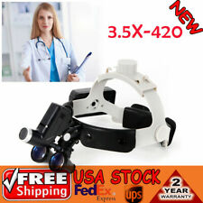 Medical Surgical Headband Magnifier Led Headlight With 35x420mm Binocular Loupes