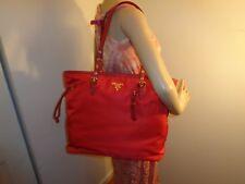 28cfedcd15e Color: BeigeMaterial: Leather. NWT PRADA Tessuto+Saffiano Nylon ROSSO (RED)  Tote Shoulder 1BG997 DUSTBAG NEW