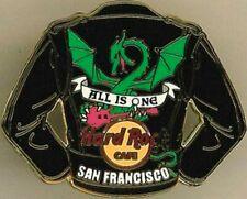 Hard Rock Cafe SAN FRANCISCO 2006 Black LEATHER JACKET Series PIN Dragon #31680