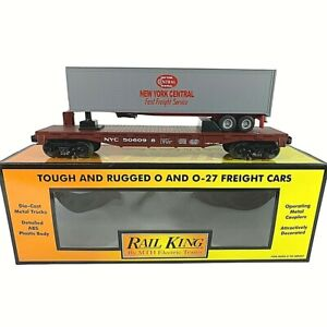 30-7014D MTH New York Central Flat w/Trailer