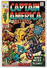 Marvel CAPTAIN AMERICA #133 - Falcon Becomes Partner - FN+ 1971 Vintage Comic