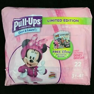 Huggies Pull-Ups Girls Cool & Learn Training Pants Minnie Mouse Size 3T-4T 22 Ct