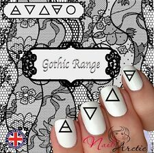 Gothic Goth Wicca Witch Elements Nail Art Sticker Water Decals Transfer Stickers