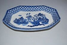 """J & G Meakin Ironstone 8 sided dish """"WILLOW"""""""