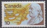 CANADA #691 10¢ USA Bicentennial Mint Never Hinged