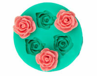 3D Rose Flower Chocolate Fondant Cake Moulds Candle Soap Silicone Molds