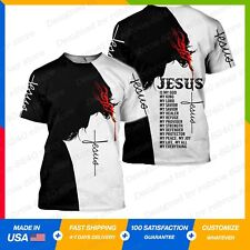 Jesus Christ 3D All Over Printed All Over Printed T-Shirt S-5XL