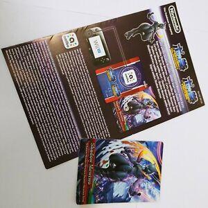 Shatten-Mewtu amiibo Karte( Shadow Mewtwo) mit Anleitung