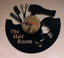 HAIR SALON  PERSONALISED CUSTOM MADE HANGING WALL CLOCK