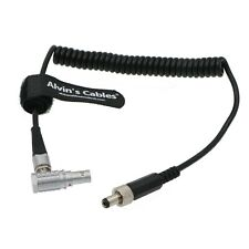 2 Pin lemo Right Angle to Locking DC Coiled Power Cable For Teradek