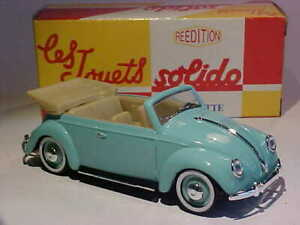 3.7 INCH Volkswagen Beetle Convertible 1950 Solido 1/43 Diecast Numbered Box