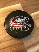 Jared Boll Autographed Puck #40 Columbus Blue Jackets Hockey