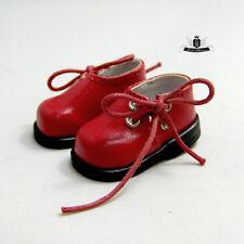 Yosd Shoes 1/6 BJD boots Dollfie Luts Dollmore Lolita red Shoes AOD DZ DOD DIM