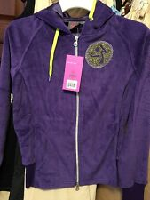 NEW ZUMBA Wear GLEAM ZIP-UP HOODIE Velour JACKET Parachute(Purple) NICE! Sz XS