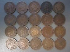 20 INDIAN HEAD IH PENNIES CENTS COIN COLLECTION LOT OLD RARE ANTIQUE NO HOLES