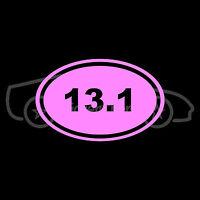 13.1 Marathon Sticker Oval Sticker Window Decal Vinyl Run Race Color Choice V1