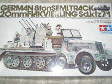 Tamiya 1/35 German SemiTrack 20mm Flakvierling Sdkfz7/1 Model Tank Kit #35050
