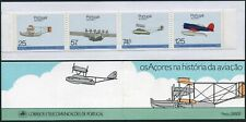 Portugal Azores 366-369a booklet,MNH.Mi 386C-389C MH 7. Aviation History 1987