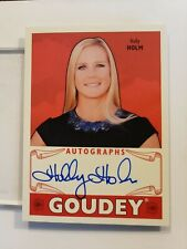 HOLLY HOLM 2016 Goudey Goodwin Champions AUTOGRAPH Card #GA-HH 1:30,784 Packs!!