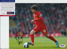 PHILIPPE COUTINHO BRAZIL LIVERPOOL SIGNED AUTOGRAPH 8X10 PHOTO PSA/DNA COA #1