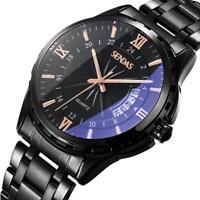 Fashion Men's Watch Stainless Steel Sport Quartz Analog Date Hours Wrist Watches
