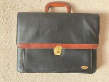 Masters Of London Briefcase. Black/Brown.