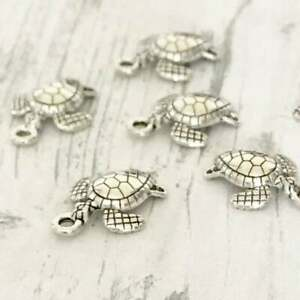 Turtle Silver Tibetan Charms Charm Jewellery Bracelet Beads Necklace